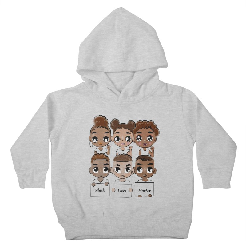 Black Lives Matter Kids Toddler Pullover Hoody by Divinitium's Clothing and Apparel