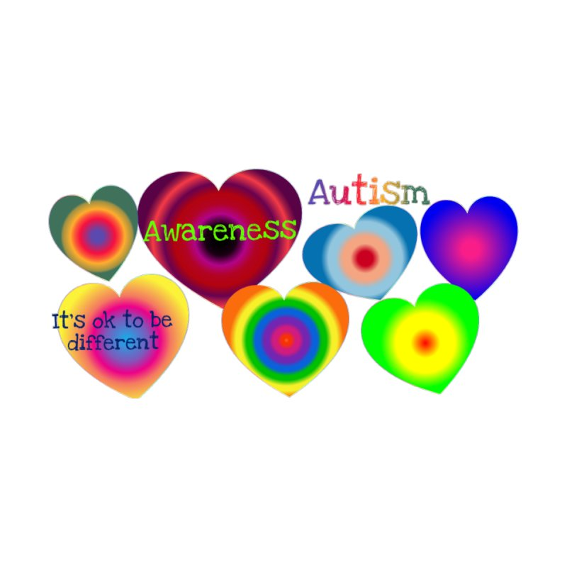 "Autism Awareness ""Heartadelica Accessories Bag by Divinitium's Clothing and Apparel"
