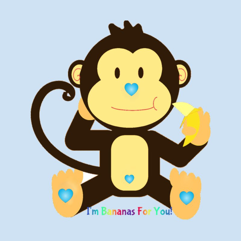 The Monkey Love Collection: I'm Bananas for you! (Blue) by Divinitium's Clothing and Apparel