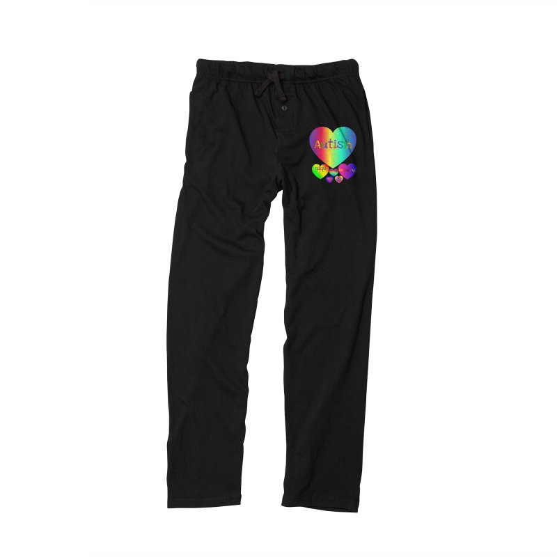 Autism Rainbow Hearts Men's Lounge Pants by Divinitium's Clothing and Apparel