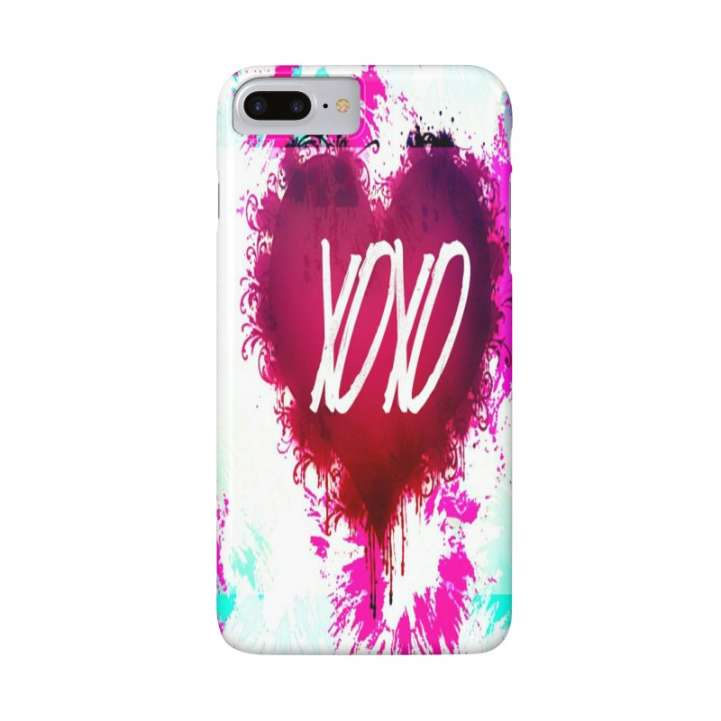 Love Burst in iPhone 7 Plus Phone Case Slim by Divinitium's Clothing and Apparel