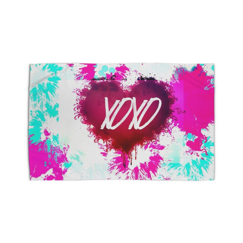 Love Burst Home Rug by Divinitium's Clothing and Apparel