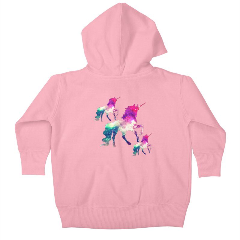 Unicorn March Kids Baby Zip-Up Hoody by Divinitium's Clothing and Apparel