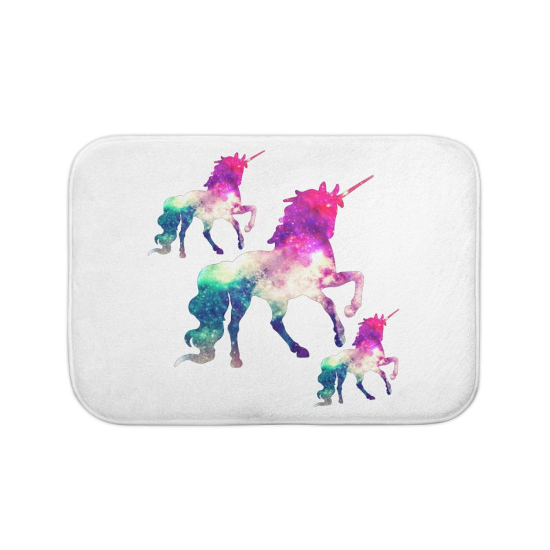 Unicorn March Home Bath Mat by Divinitium's Clothing and Apparel