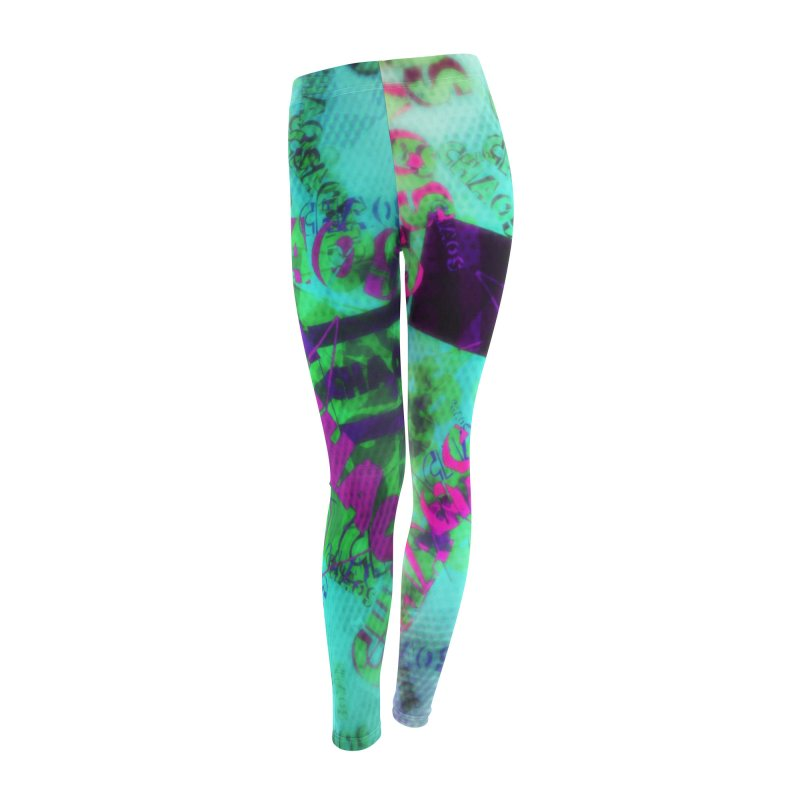 Chaos and Disorder Women's Leggings Bottoms by Divinitium's Clothing and Apparel