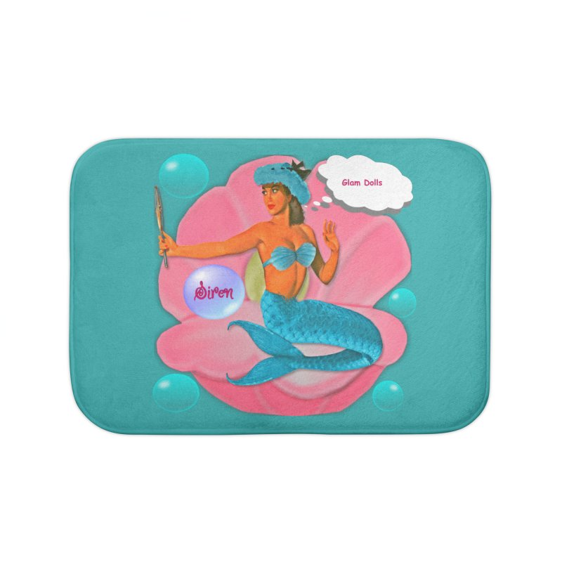 The Glam Doll's Collection: Siren Home Bath Mat by Divinitium's Clothing and Apparel