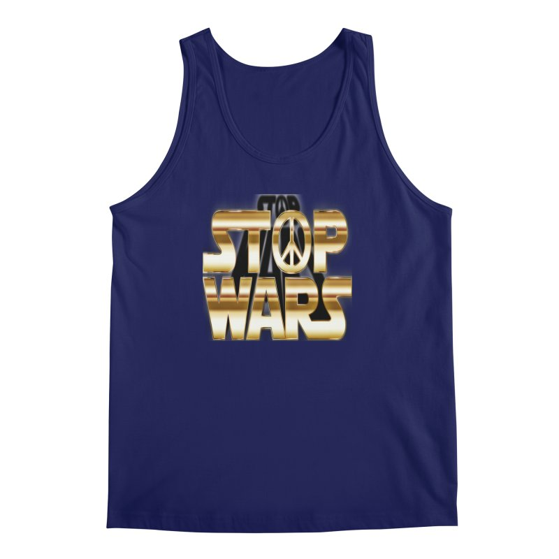 Stop Wars Men's Regular Tank by Divinitium's Clothing and Apparel