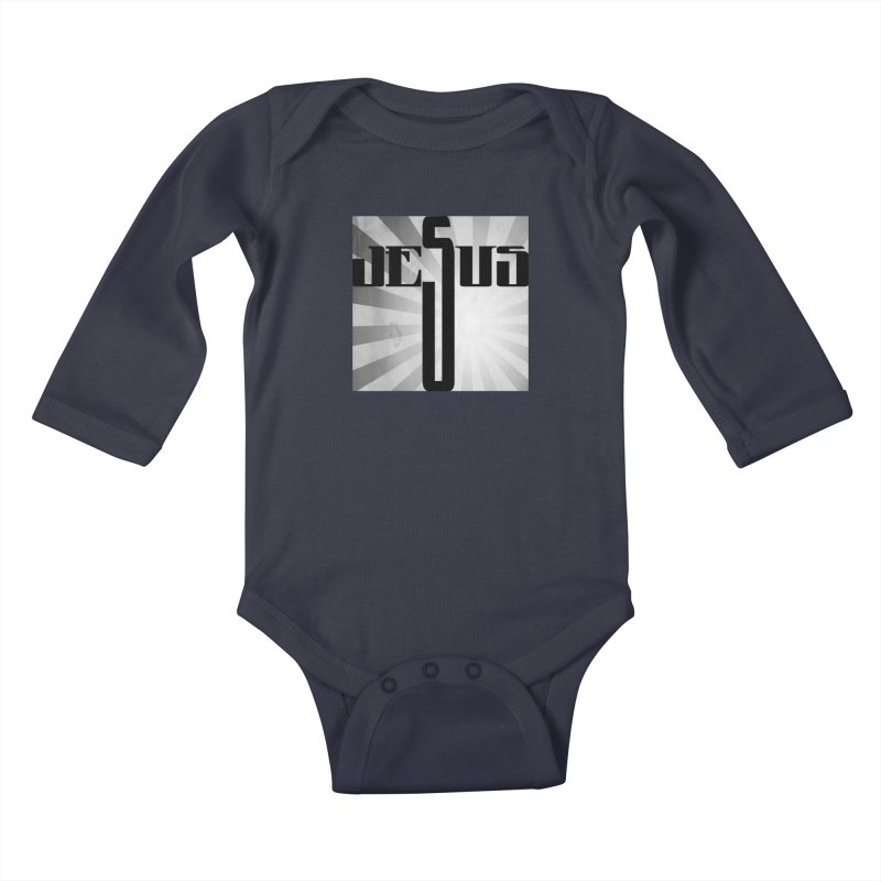 Jesus Kids Baby Longsleeve Bodysuit by Divinitium's Clothing and Apparel