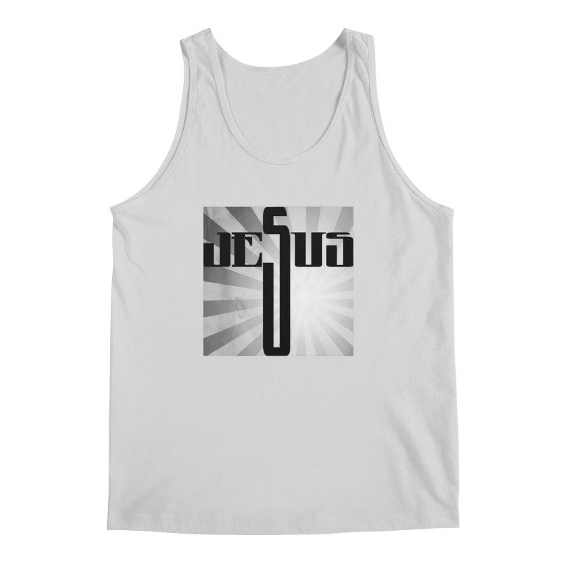 Jesus Men's Regular Tank by Divinitium's Clothing and Apparel