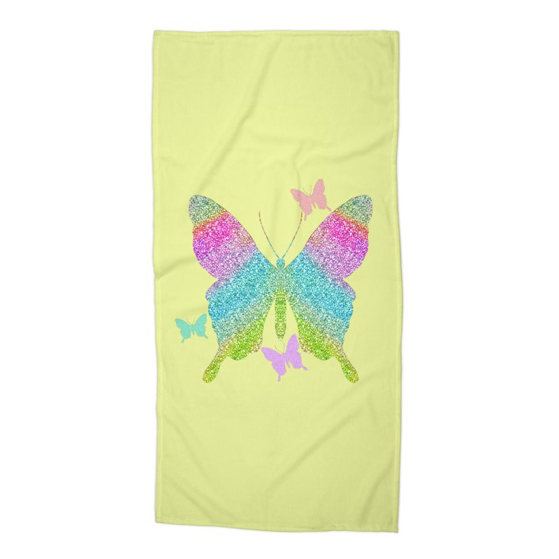Glitzy Accessories Beach Towel by Divinitium's Clothing and Apparel
