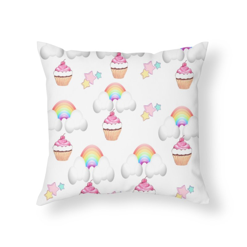 Delightful Home Throw Pillow by Divinitium's Clothing and Apparel