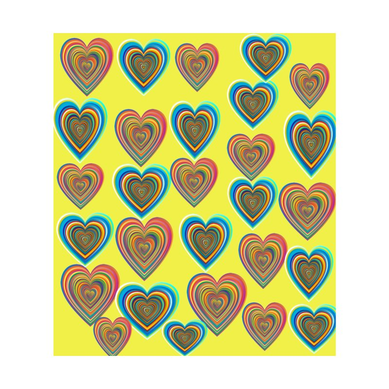 Cute Rainbow Swirly Hearts by Divinitium's Clothing and Apparel