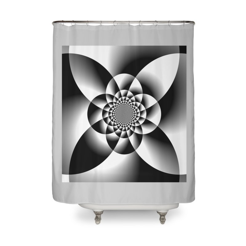 Shadow Blossom Home Shower Curtain by Divinitium's Clothing and Apparel
