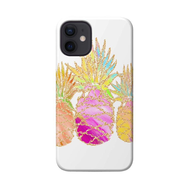 Pineapple Glam Accessories Phone Case by Divinitium's Clothing and Apparel