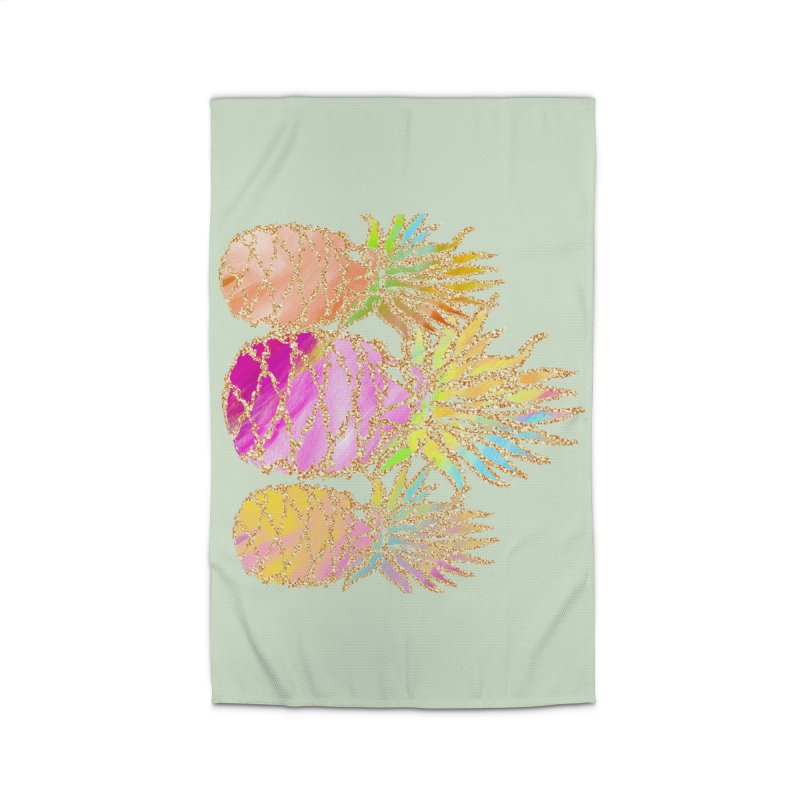 Pineapple Glam Home Rug by Divinitium's Clothing and Apparel