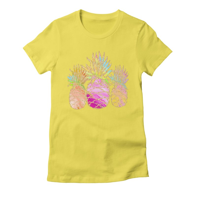 Pineapple Glam Women's T-Shirt by Divinitium's Clothing and Apparel