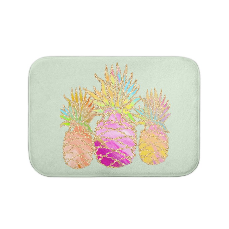 Pineapple Glam Home Bath Mat by Divinitium's Clothing and Apparel