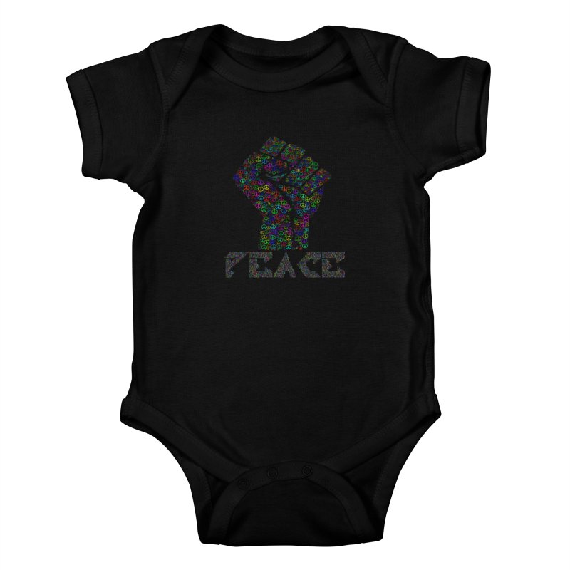 Solid Peace Kids Baby Bodysuit by Divinitium's Clothing and Apparel