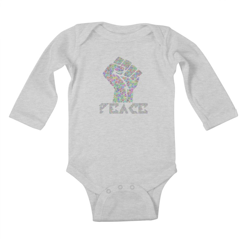 Solid Peace Kids Baby Longsleeve Bodysuit by Divinitium's Clothing and Apparel