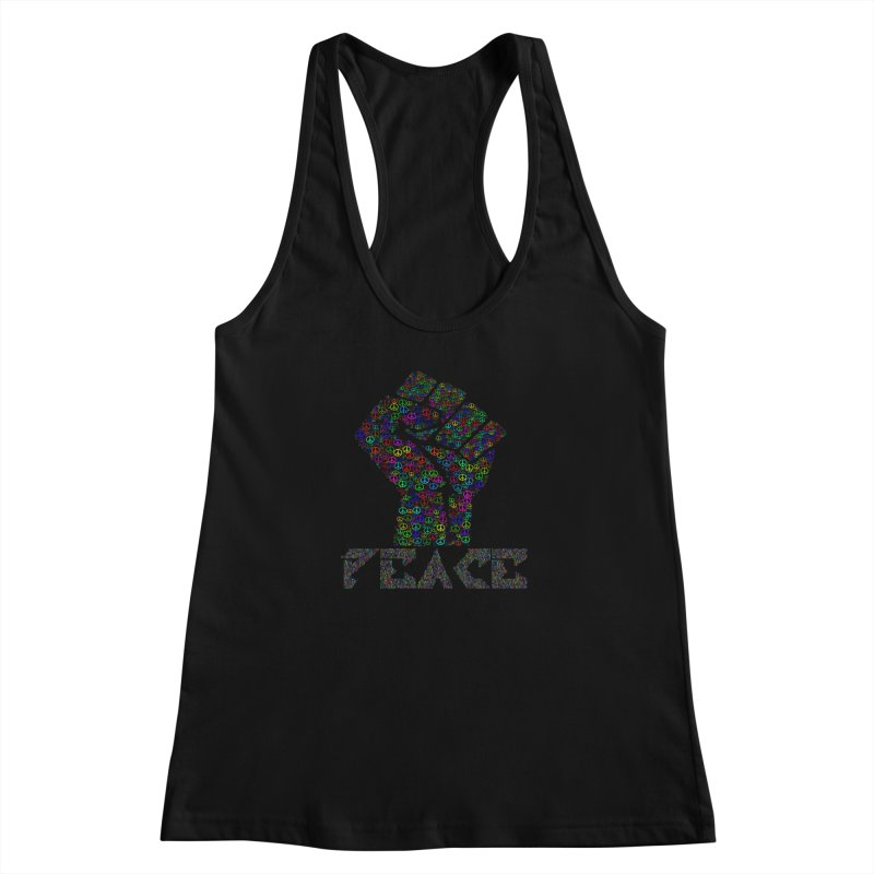 Solid Peace Women's Racerback Tank by Divinitium's Clothing and Apparel
