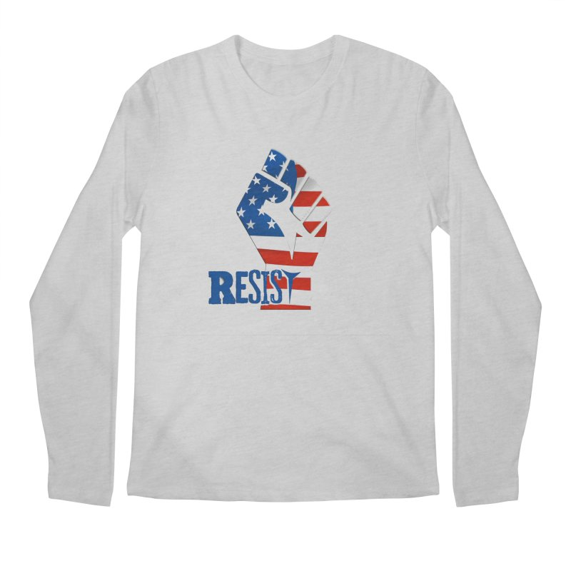 Resist in Solidarity Men's Regular Longsleeve T-Shirt by Divinitium's Clothing and Apparel
