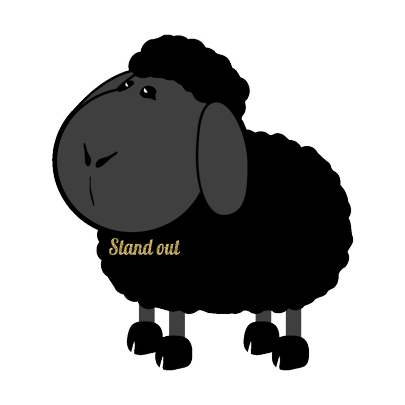 The Black Sheep Stands Out Not Alone Kids Baby T-Shirt by Divinitium's Clothing and Apparel