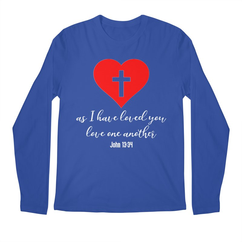 John 13:34 Men's Regular Longsleeve T-Shirt by Divinitium's Clothing and Apparel