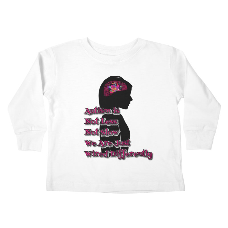 Autism is not (Pink Lettering) Kids Toddler Longsleeve T-Shirt by Divinitium's Clothing and Apparel