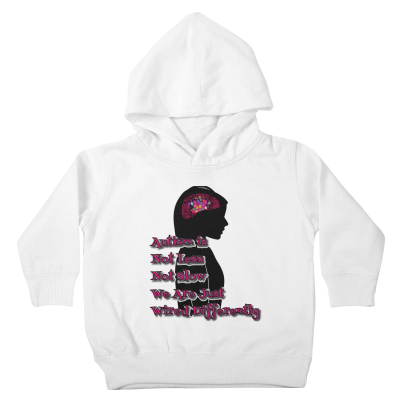 Autism is not (Pink Lettering) Kids Toddler Pullover Hoody by Divinitium's Clothing and Apparel