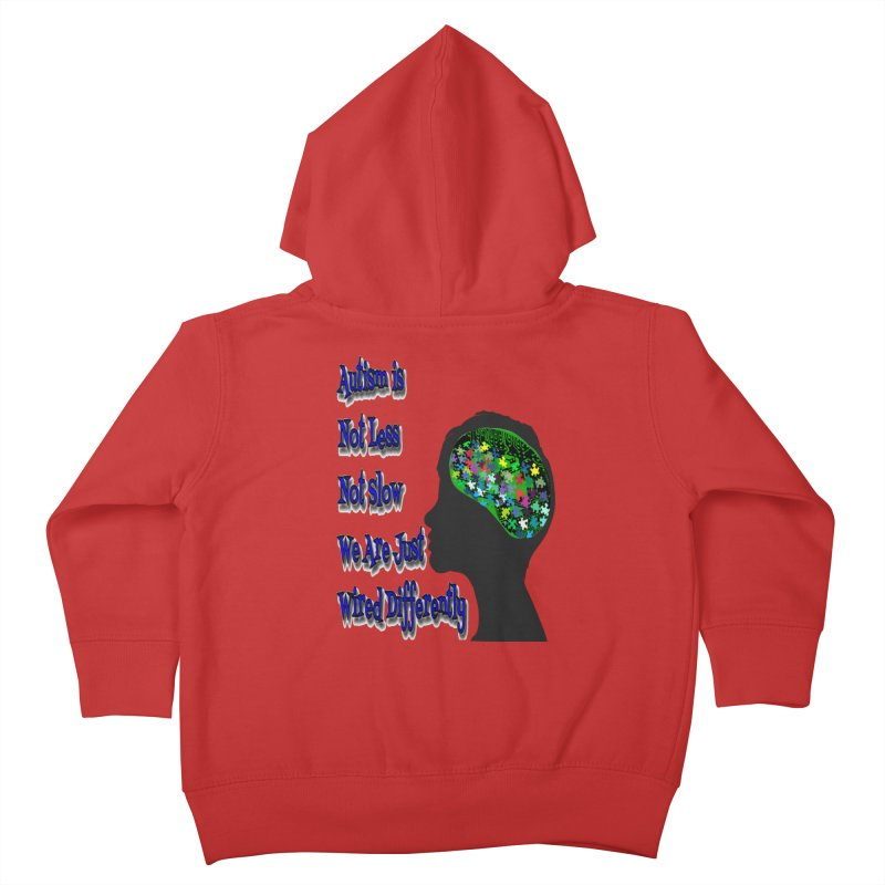 Autism Is Not...(Blue Lettering) Kids Toddler Zip-Up Hoody by Divinitium's Clothing and Apparel
