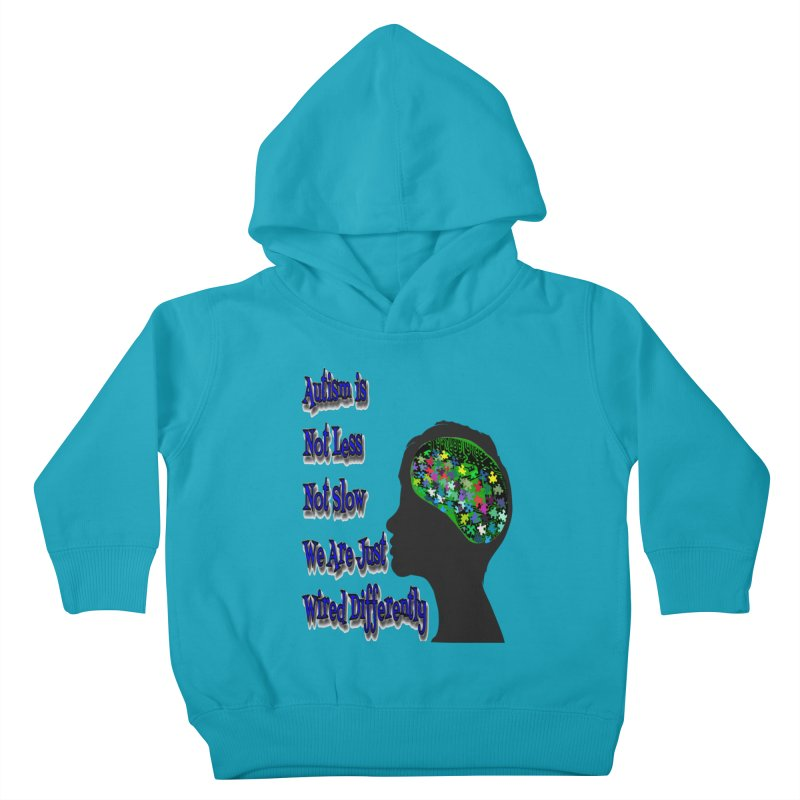 Autism Is Not...(Blue Lettering) Kids Toddler Pullover Hoody by Divinitium's Clothing and Apparel