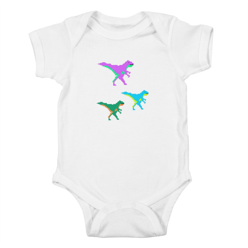 Dino Time Kids Baby Bodysuit by Divinitium's Clothing and Apparel