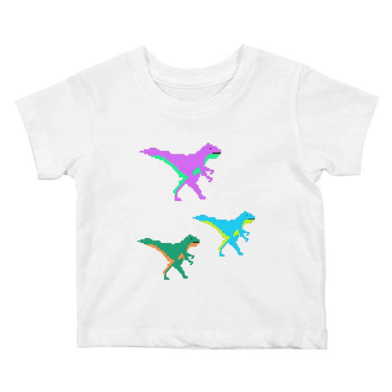 Dino Time Kids Baby T-Shirt by Divinitium's Clothing and Apparel