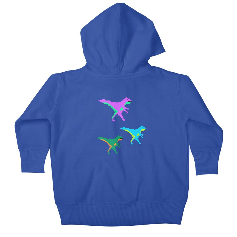 Dino Time Kids Baby Zip-Up Hoody by Divinitium's Clothing and Apparel