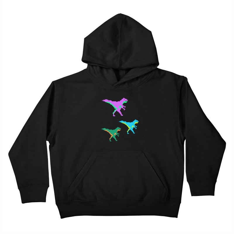 Dino Time Kids Pullover Hoody by Divinitium's Clothing and Apparel