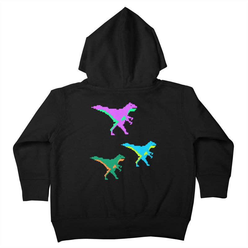 Dino Time Kids Toddler Zip-Up Hoody by Divinitium's Clothing and Apparel