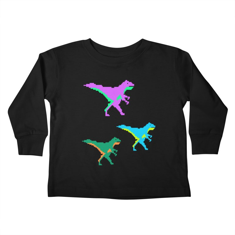 Dino Time Kids Toddler Longsleeve T-Shirt by Divinitium's Clothing and Apparel