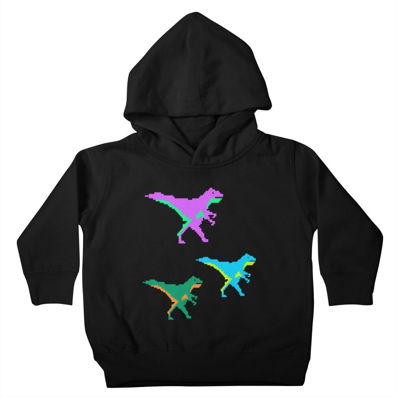 Dino Time Kids Toddler Pullover Hoody by Divinitium's Clothing and Apparel