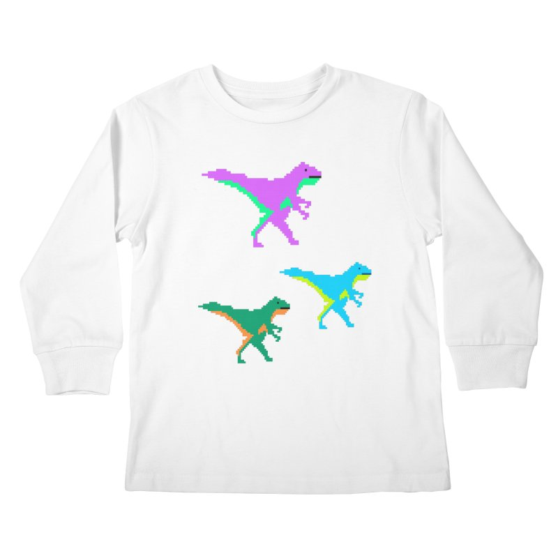 Dino Time Kids Longsleeve T-Shirt by Divinitium's Clothing and Apparel