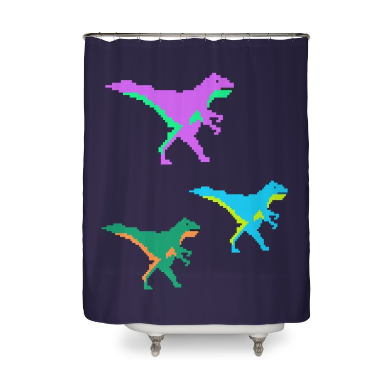 Dino Time Home Shower Curtain by Divinitium's Clothing and Apparel