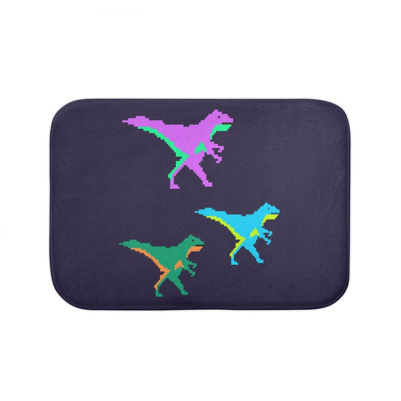 Dino Time Home Bath Mat by Divinitium's Clothing and Apparel
