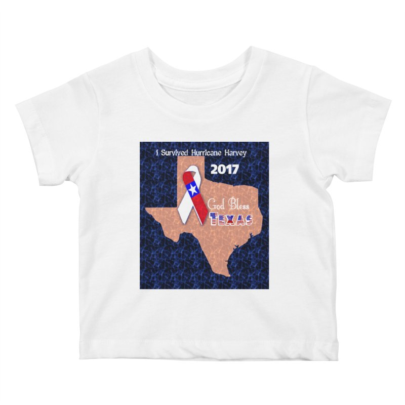 Hurricane Harvey Survivor Kids Baby T-Shirt by Divinitium's Clothing and Apparel