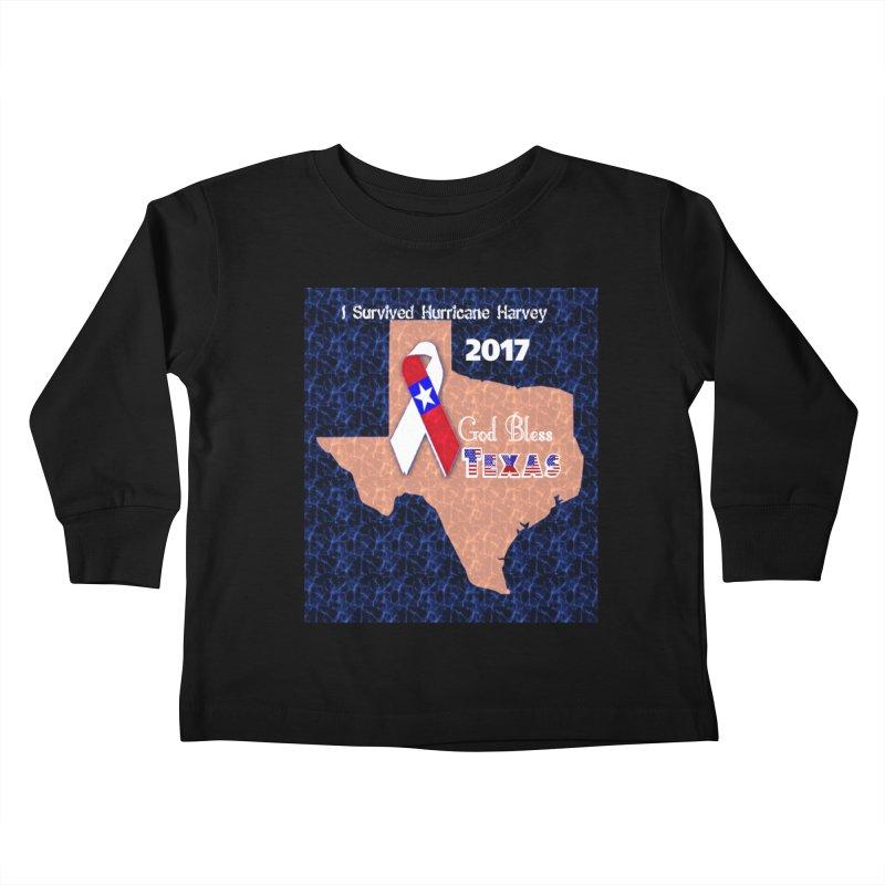 Hurricane Harvey Survivor Kids Toddler Longsleeve T-Shirt by Divinitium's Clothing and Apparel