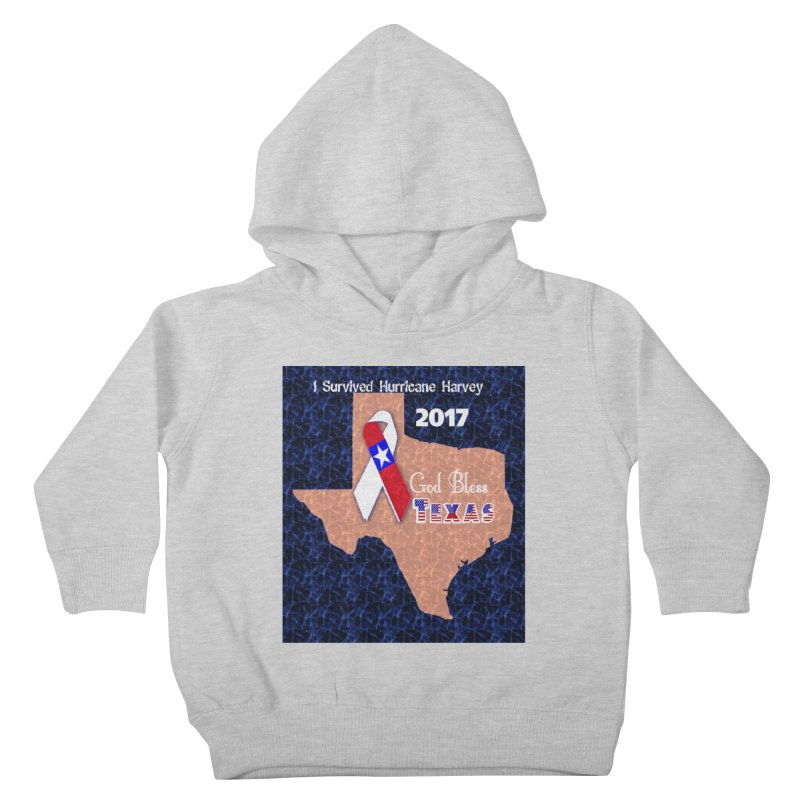 Hurricane Harvey Survivor Kids Toddler Pullover Hoody by Divinitium's Clothing and Apparel