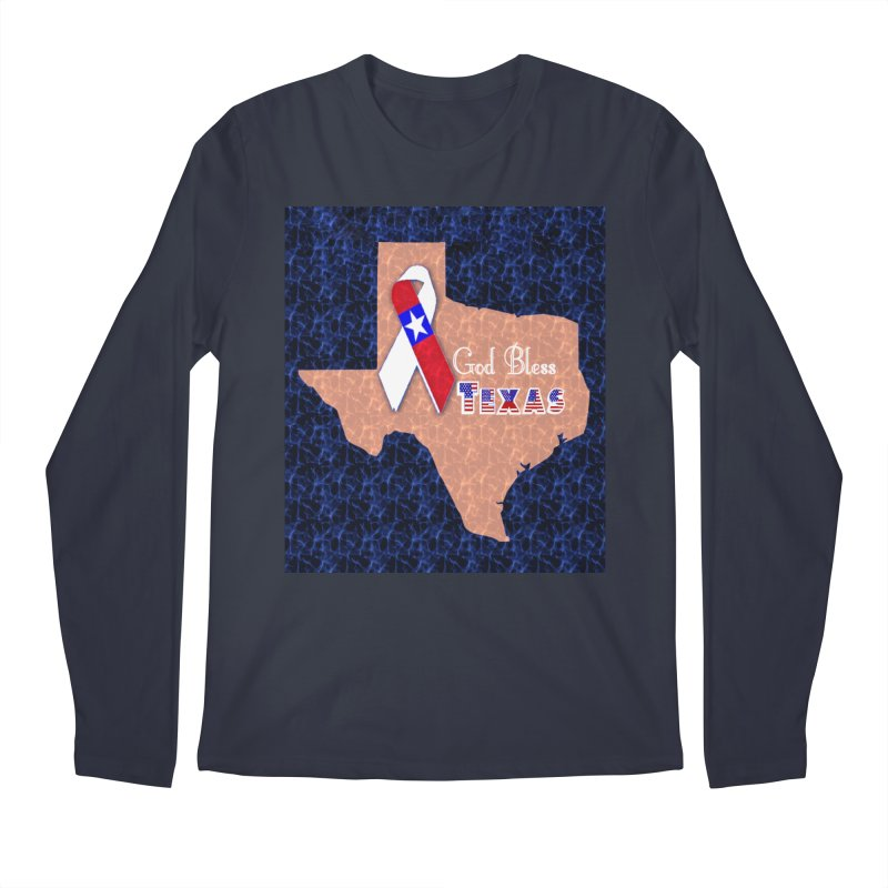 God Bless Texas Men's Longsleeve T-Shirt by Divinitium's Clothing and Apparel