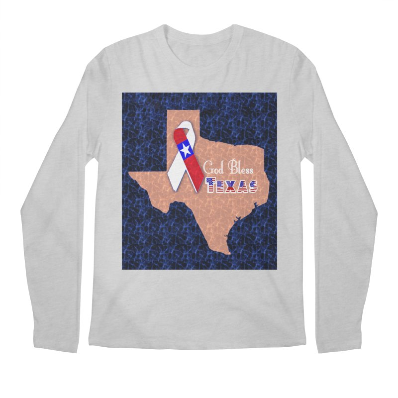 God Bless Texas Men's Regular Longsleeve T-Shirt by Divinitium's Clothing and Apparel