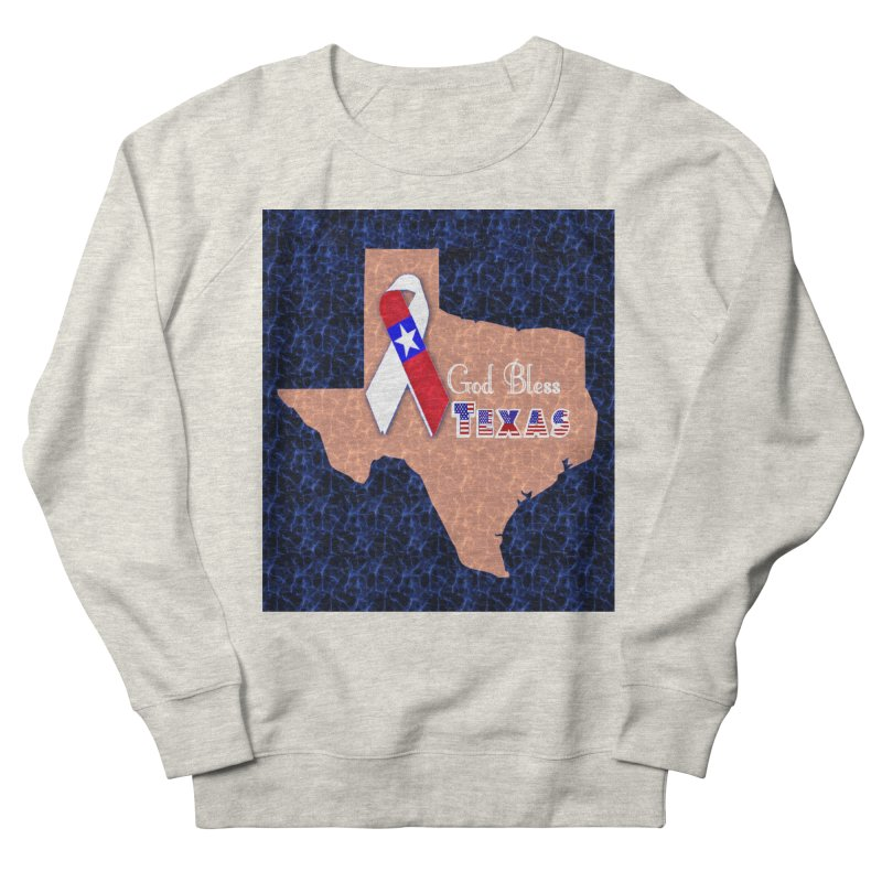 God Bless Texas Men's French Terry Sweatshirt by Divinitium's Clothing and Apparel