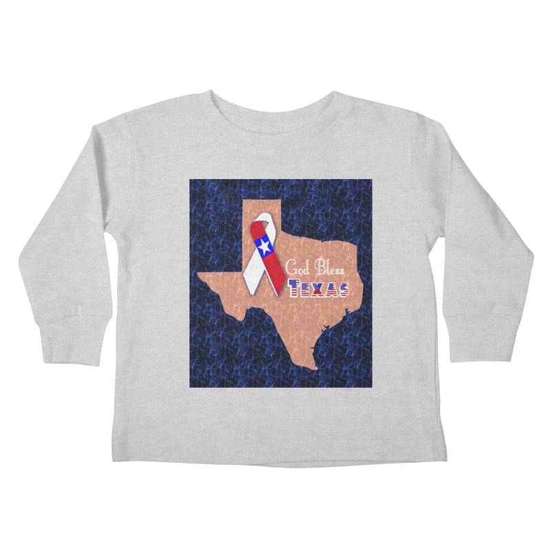 God Bless Texas Kids Toddler Longsleeve T-Shirt by Divinitium's Clothing and Apparel
