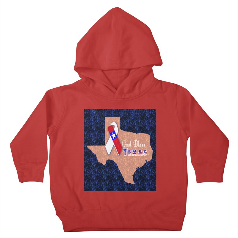 God Bless Texas Kids Toddler Pullover Hoody by Divinitium's Clothing and Apparel