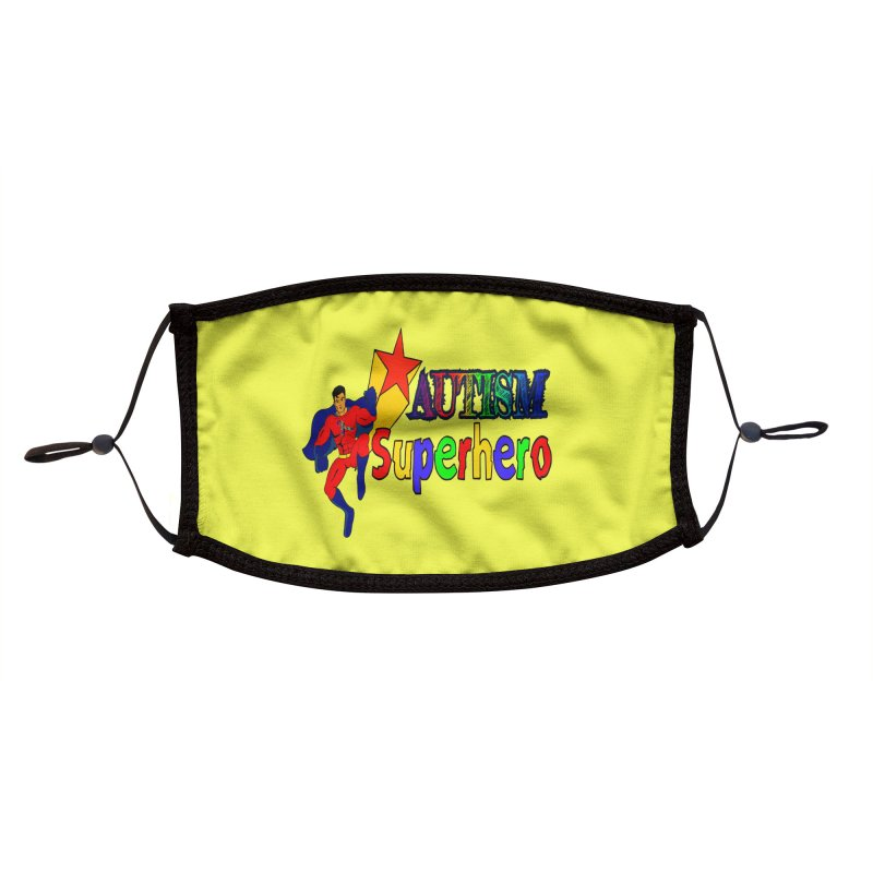 Autism Superhero Accessories Face Mask by Divinitium's Clothing and Apparel